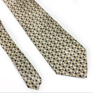 3/$15 Stanford Beige w/Black and Tan Men Dress Tie